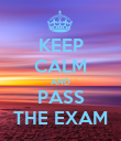 KEEP CALM AND PASS THE EXAM - Personalised Poster large