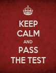 KEEP CALM AND PASS THE TEST - Personalised Poster large