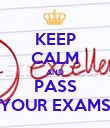 KEEP CALM AND PASS YOUR EXAMS - Personalised Poster large