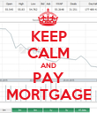 KEEP CALM AND PAY MORTGAGE - Personalised Poster large