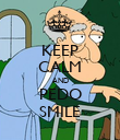 KEEP CALM AND PEDO SMILE - Personalised Poster large
