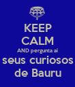 KEEP CALM AND pergunta aí seus curiosos de Bauru - Personalised Poster large