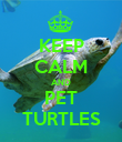 KEEP CALM AND PET TURTLES - Personalised Poster large