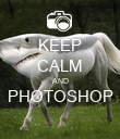 KEEP CALM AND PHOTOSHOP  - Personalised Poster large