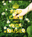 KEEP CALM AND PICK DAISIES - Personalised Poster large