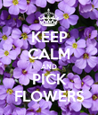 KEEP CALM AND PICK FLOWERS - Personalised Poster large