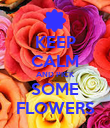 KEEP CALM AND PICK SOME FLOWERS - Personalised Poster large