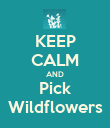 KEEP CALM AND Pick Wildflowers - Personalised Poster large