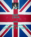 KEEP CALM AND PICTURE HARRY COVERED IN CHEESE - Personalised Poster large