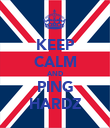 KEEP CALM AND PING HARDZ - Personalised Poster large
