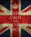 KEEP CALM AND PITAJ NESTO GRCU - Personalised Poster large
