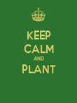 KEEP CALM AND PLANT  - Personalised Poster large