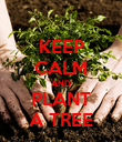 KEEP CALM AND PLANT A TREE - Personalised Poster large