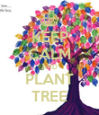 KEEP CALM AND PLANT TREE - Personalised Poster large