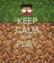 KEEP CALM AND PLAY  - Personalised Poster large