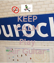 KEEP CALM AND Play Air Guitar - Personalised Poster large