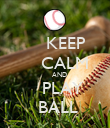 KEEP     CALM     AND    PLAY  BALL - Personalised Poster large