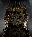 KEEP CALM AND PLAY GAME OF THRONES - Personalised Poster large