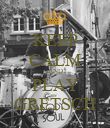 KEEP CALM AND PLAY GRETSCH - Personalised Poster large