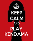 KEEP CALM AND PLAY KENDAMA - Personalised Poster large