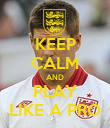 KEEP CALM AND PLAY LIKE A PRO - Personalised Poster large