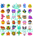 KEEP CALM AND PLAY MOSHIMONSTERS - Personalised Poster large