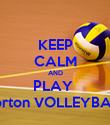 KEEP CALM AND PLAY  Norton VOLLEYBALL - Personalised Poster large