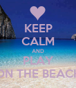 KEEP CALM AND PLAY ON THE BEACH - Personalised Poster large
