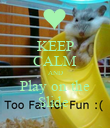 KEEP CALM AND Play on the Slide  - Personalised Poster large