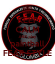 KEEP CALM AND play paintball FEAR STYLE - Personalised Poster large
