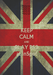 KEEP CALM AND PLAY PS3 at inSpot - Personalised Poster large