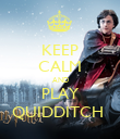 KEEP CALM AND PLAY QUIDDITCH  - Personalised Poster large