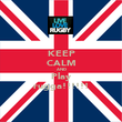 KEEP CALM AND Play rugga!!!!!! - Personalised Poster large