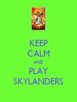 KEEP CALM AND PLAY SKYLANDERS - Personalised Poster large