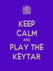 KEEP CALM AND PLAY THE KEYTAR - Personalised Poster large