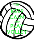 KEEP CALM AND PLAY VOLLEY - Personalised Poster large