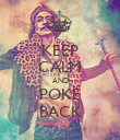 KEEP CALM AND POKE BACK - Personalised Poster large