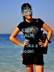 KEEP CALM AND pose lika a  model - Personalised Poster large