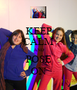 KEEP CALM AND POSE ON - Personalised Poster large