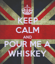 KEEP CALM AND POUR ME A WHISKEY - Personalised Poster large