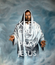 KEEP CALM AND PRAY JESUS - Personalised Poster large