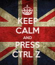 KEEP CALM AND PRESS CTRL Z  - Personalised Poster large