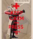 "KEEP CALM AND PRESS  ""E"" - Personalised Poster large"