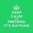 KEEP CALM AND PRETEND IT'S NATHAN - Personalised Poster large