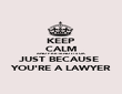 KEEP CALM AND PRETEND IT'S OK JUST BECAUSE  YOU'RE A LAWYER - Personalised Poster large
