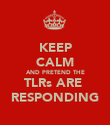 KEEP CALM AND PRETEND THE TLRs ARE  RESPONDING - Personalised Poster large