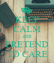KEEP CALM AND PRETEND TO CARE - Personalised Poster large