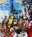 KEEP CALM AND PRIMER  CAMPEON - Personalised Poster large