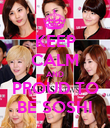 KEEP CALM AND PROUD TO BE SOSHI - Personalised Poster large