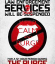 KEEP CALM AND PURGE  - Personalised Poster large